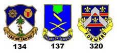 Le 320th Infantry Regiment à Pithiviers, Montargis et Courtenay 35crests