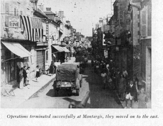 Le 134th Infantry Regiment libère Orléans, Montargis, Bellegarde ... Vi2